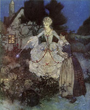 Cinderella and her godmother by Edmund Dulac