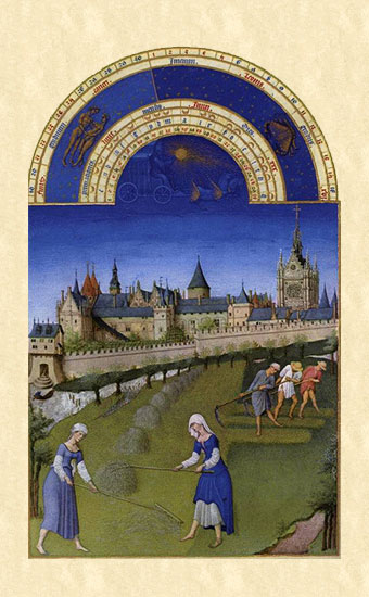 Les Tres Riches Heures (Book of Hours) - June