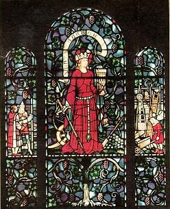 Edward Burne-Jones stained glass, Saint Barbara