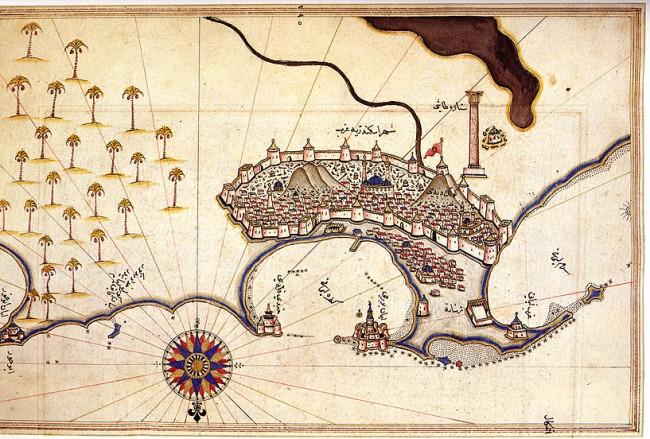 Alexandria by Piri Reis 1521