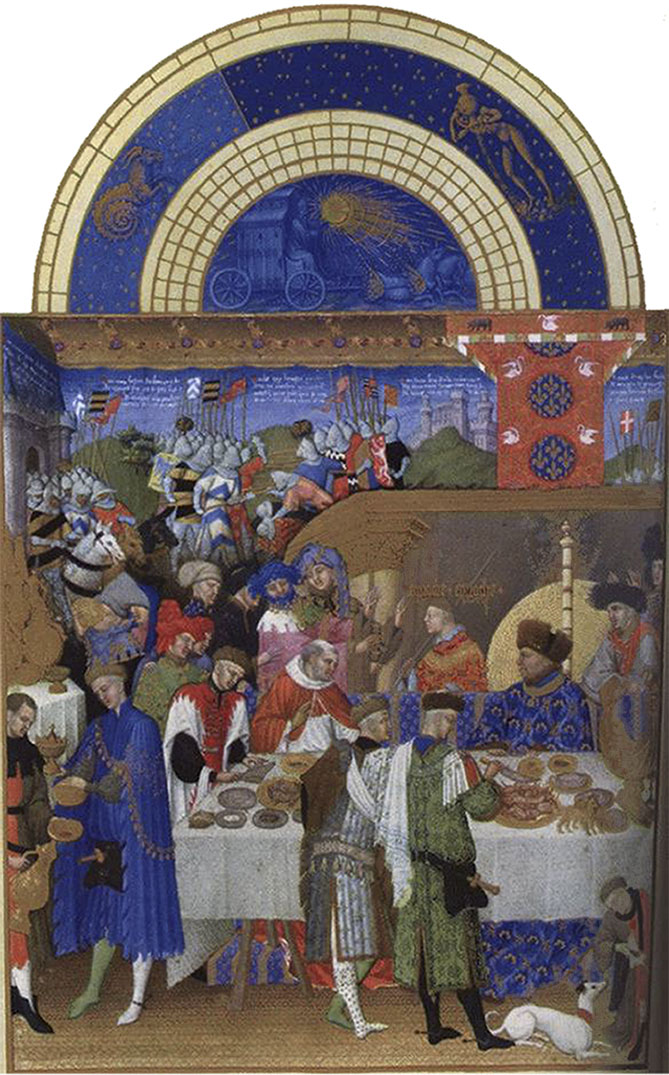 Tres Riches Heures of the Duc de Berry, Labors of the Month, January