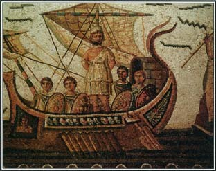 Third Century mosaic of the Odyssey