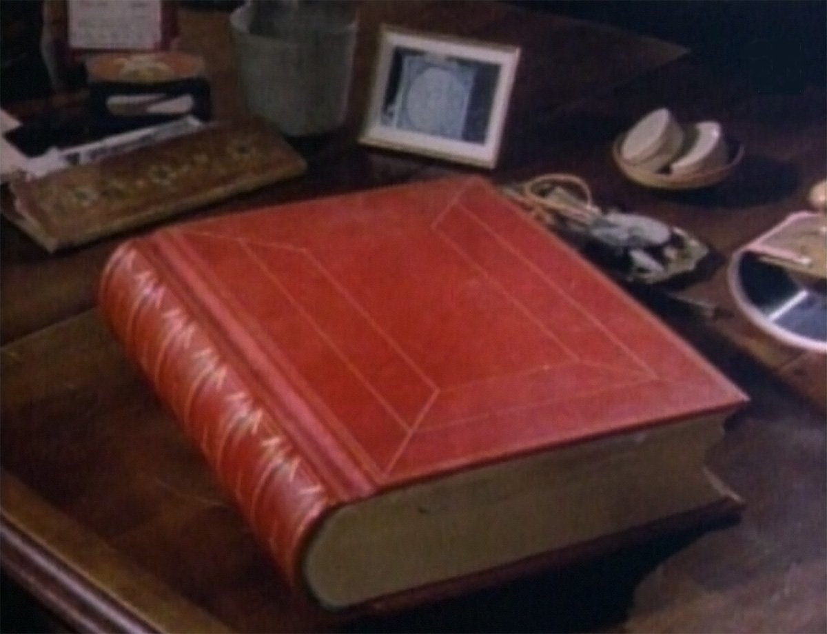 Jung's Red Book resting on his desk