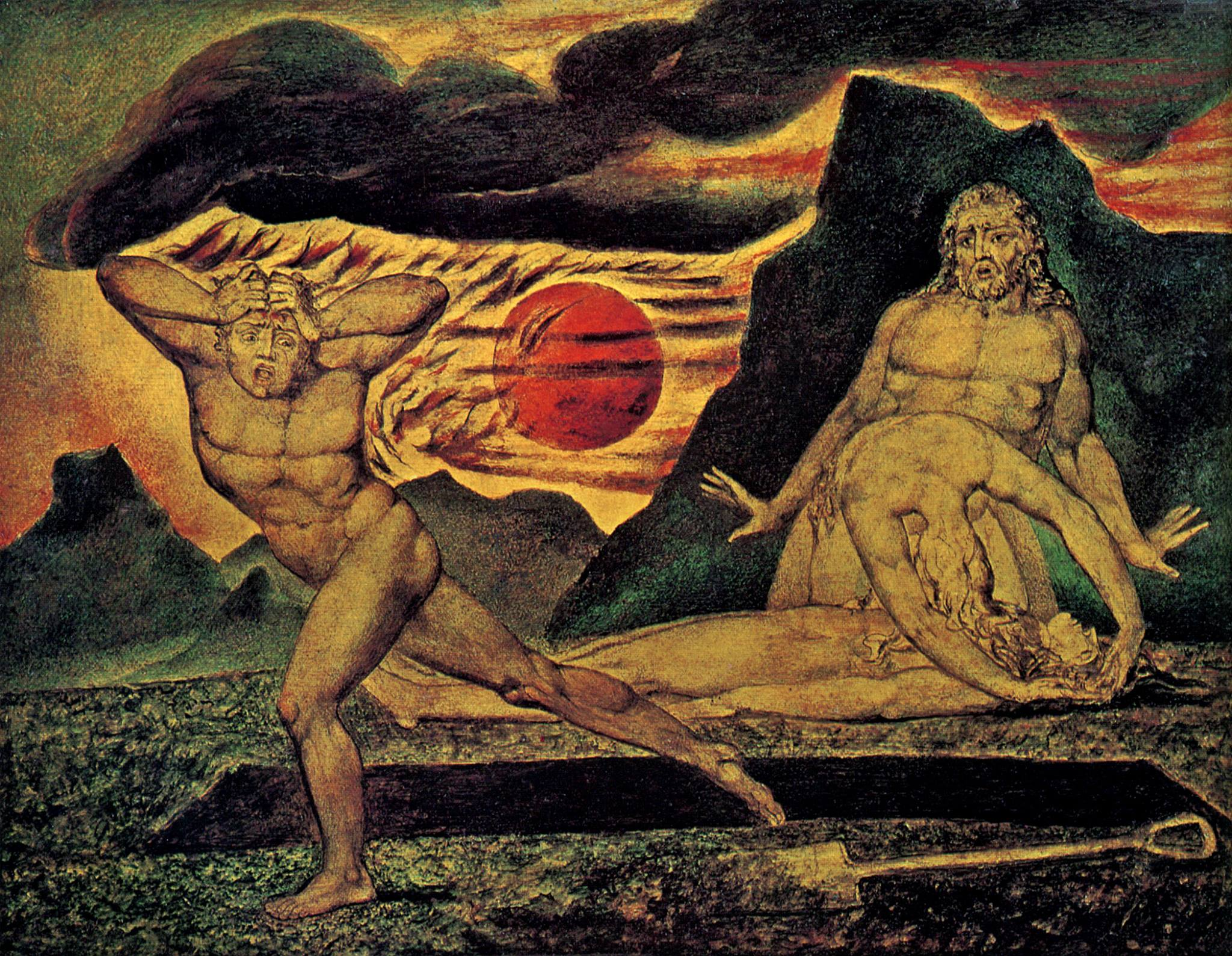 William Blake, Adam and Eve discovering the body of Abel