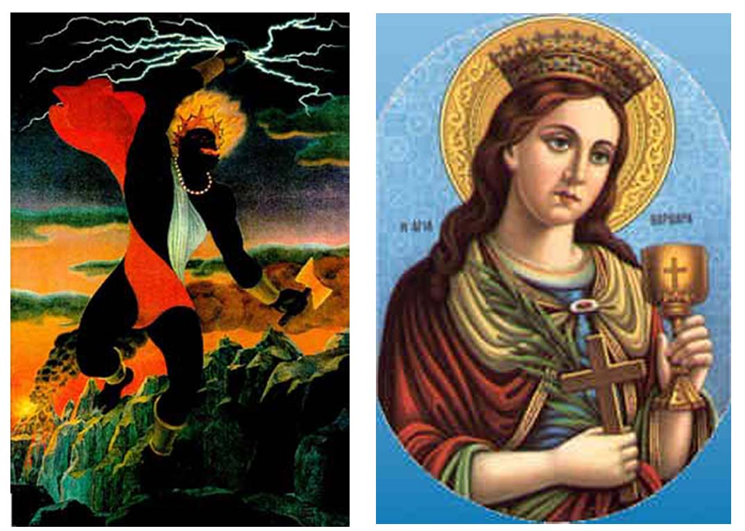 Chango and Saint Barbara