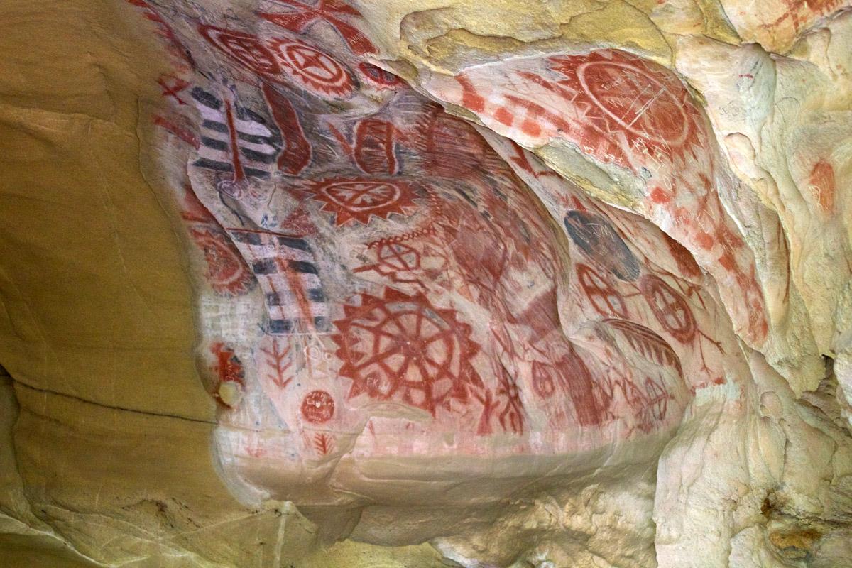 Chumash art, painted caves, Santa Barbara, California
