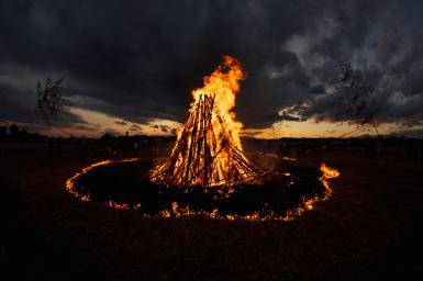 Imbolc fire circle
