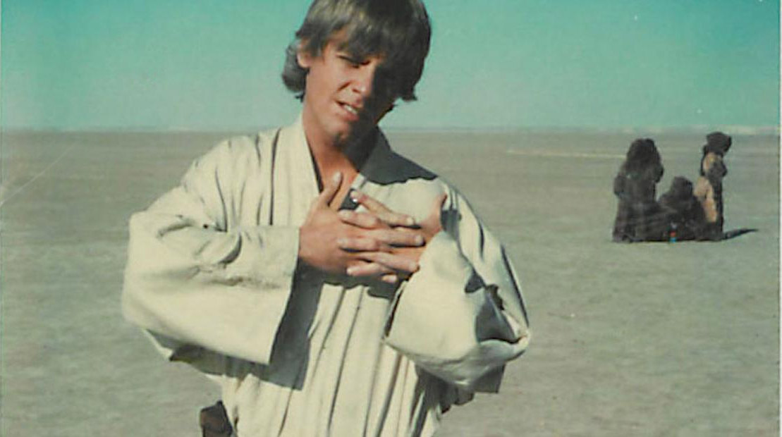 Mark Hamill, on set