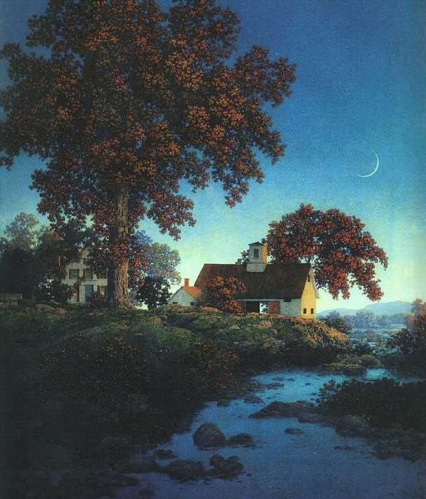 Maxfield Parrish, New Moon