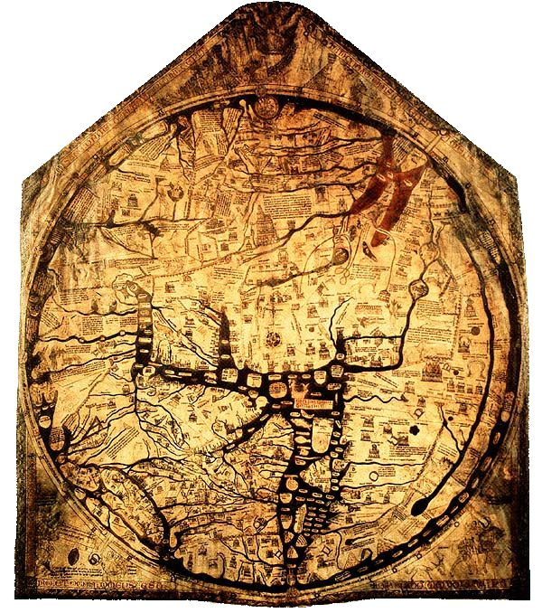 map of a medieval city
