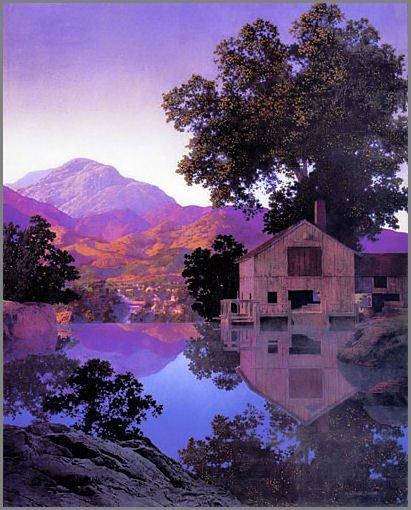 Maxfield Parrish Mill Pond