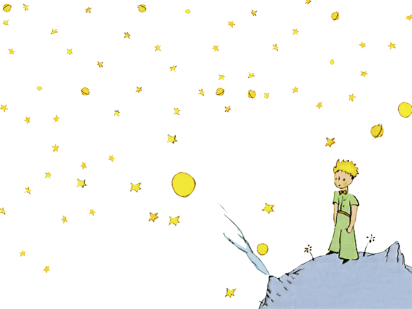 The Little Prince looks out at the stars