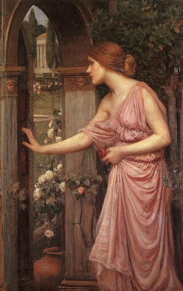 Psyche opening the garden door, Waterhouse
