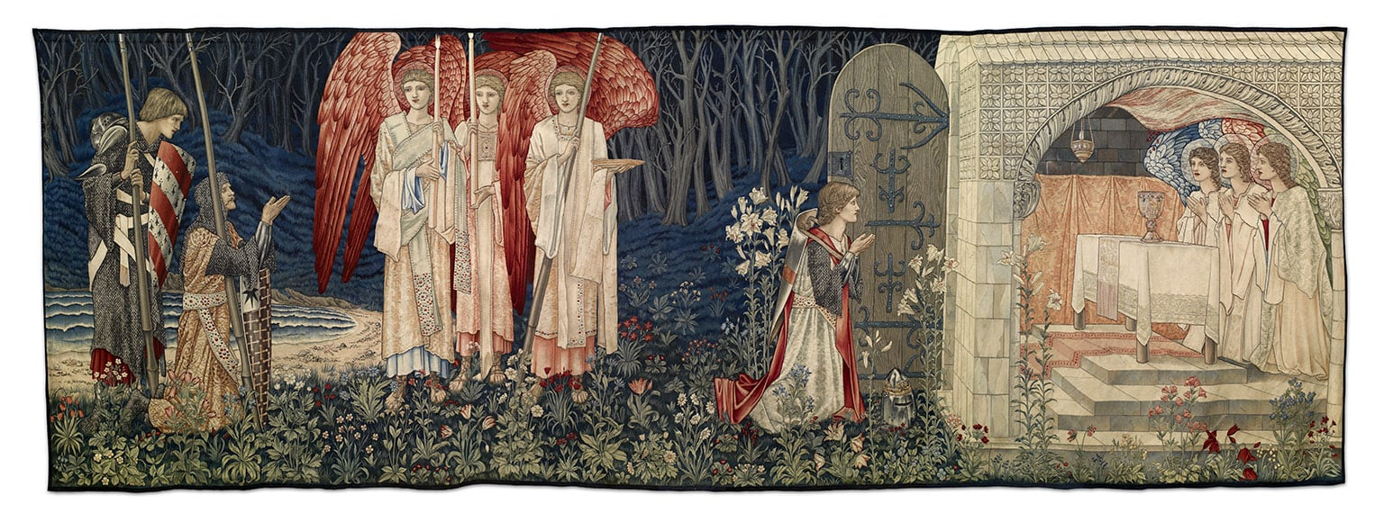 Tapestry by Edward Burne-Jones and William Morris: Quest for the Holy Grail