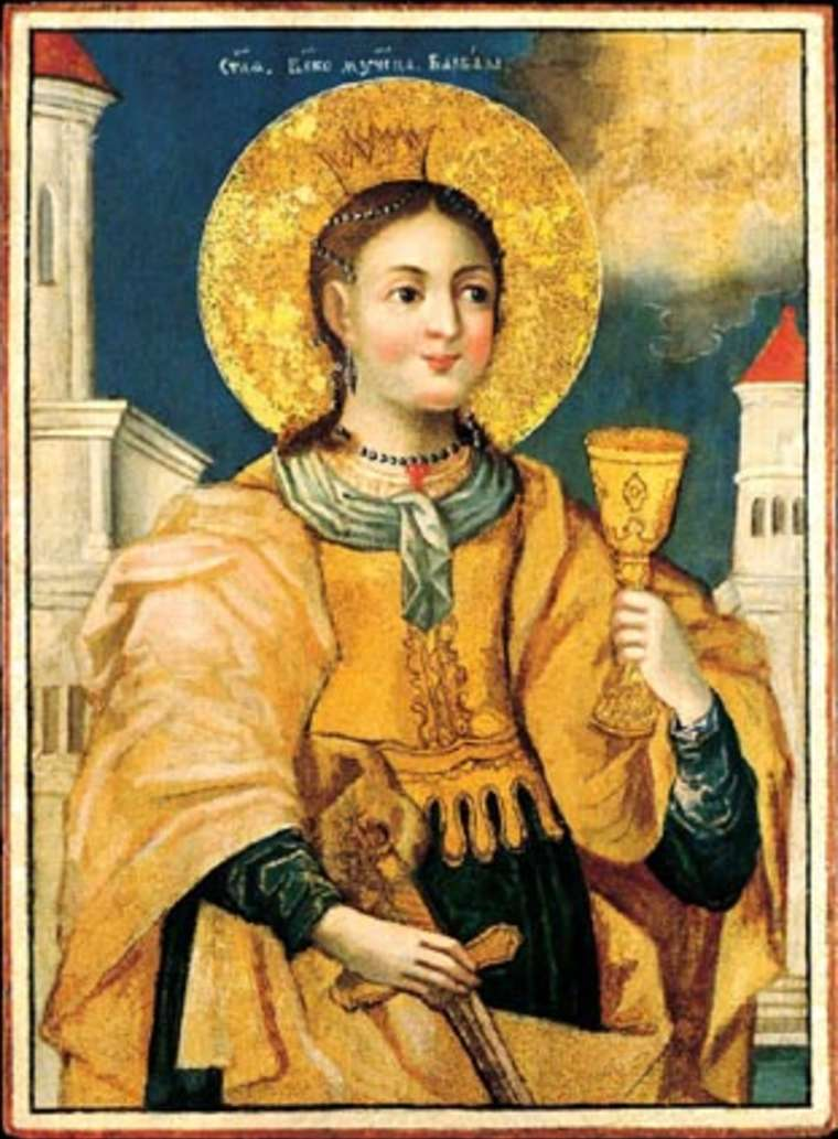 Saint Barbara, Russian icon