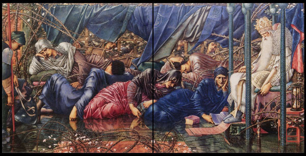 Edward Burne-Jones, Briar Rose Tiles, The Council Chamber