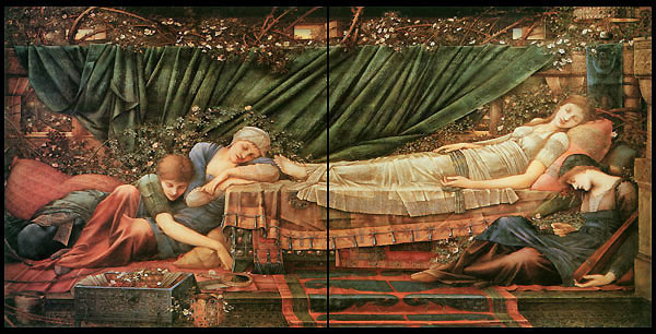 Edward Burne-Jones, Briar Rose Tiles, The Rose Bower