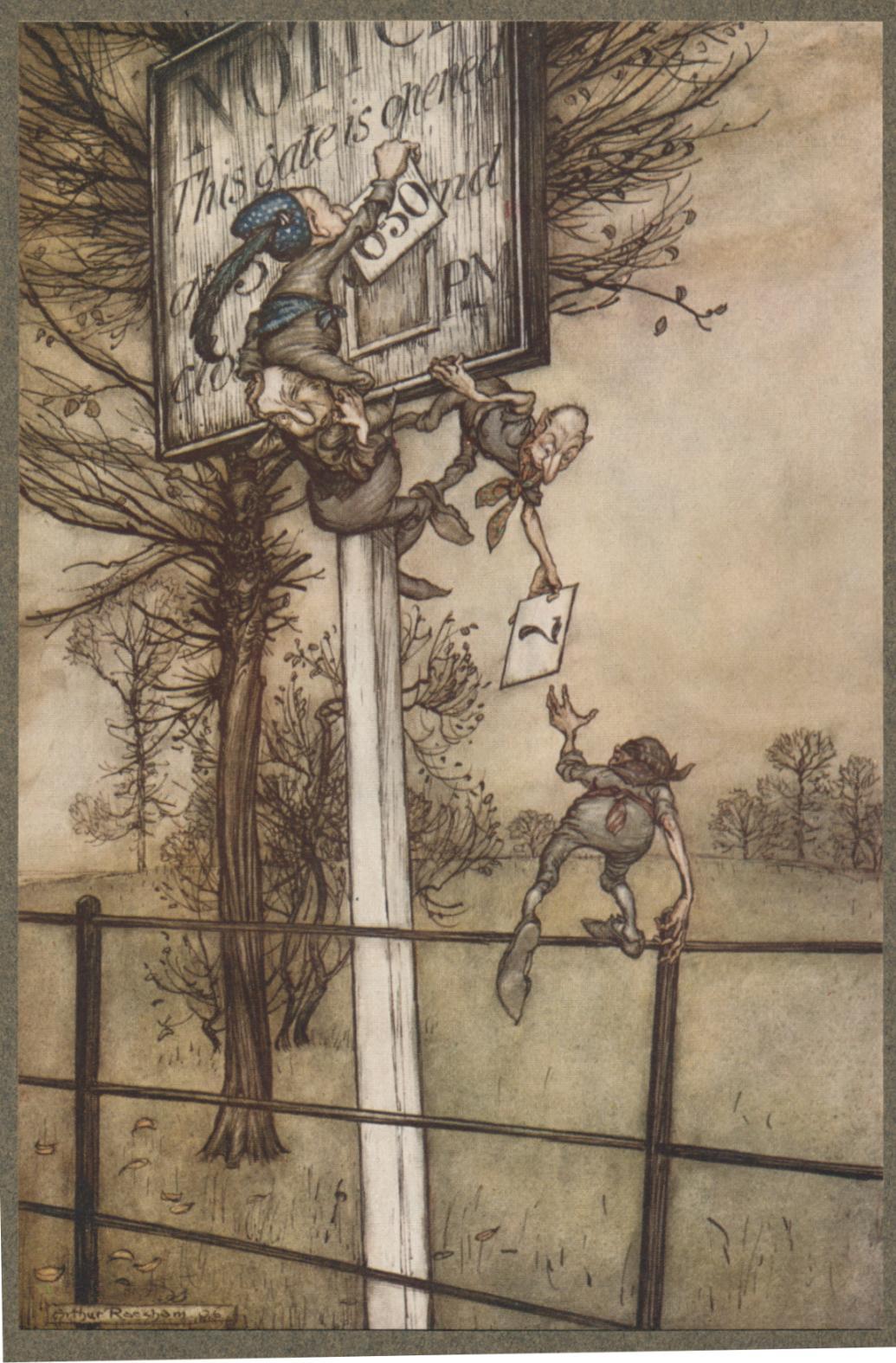 Arthur Rackham, Peter Pan in Kensington Gardens