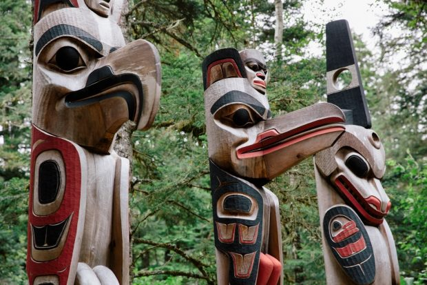 Totem birds, British Columbia