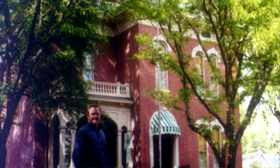 Jonathan Young at the home of James Whitcomb Riley
