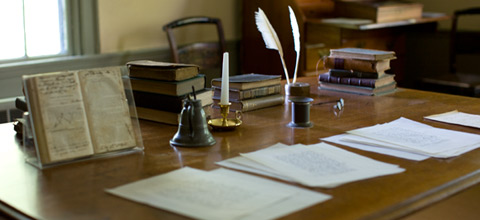 Herman Melville's studio at Arrowhead, where he wrote Moby Dick