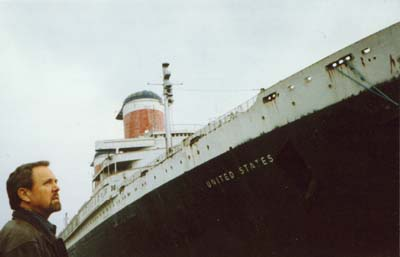 Jonathan Young at the S.S. United States